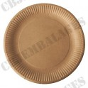 Assiette carton 23 cm blanche (Paquet de 50)