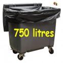 Sac poubelle noir30 micron 750 l