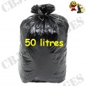 Sac poubelle noir 30micron 50 l