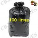Sac poubelle noir 40 micron 100 l