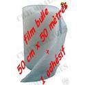 Lots de rouleaux d' adhesif +2 films papier bulle 50 cm x 50 mètre de long