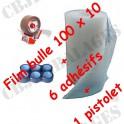 Rouleau bulle 100x10 Ml + dévidoir + 6 adhésif