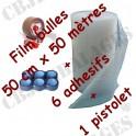 FILM A BULLES 50 x 50 PAPIER BULLE + adhesif + devidoir pour l'emballage & envoi