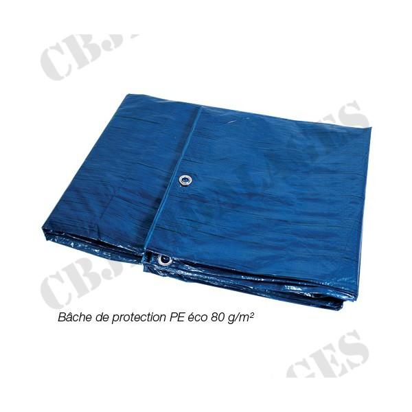 Bache De Protection Legere 5 X 8 M 80 Gr M Bois Toiture Quad Piscine Voiture Cbj Emballages